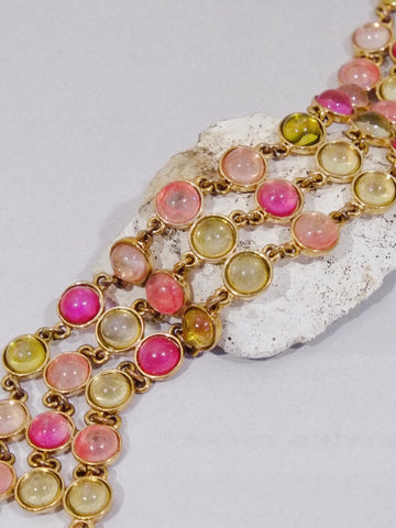 Monet multi colour cabochon beads bracelet (vintage)