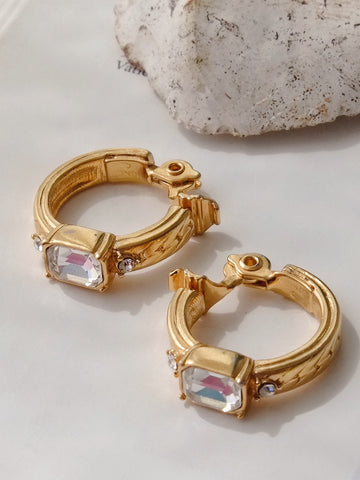 Monet ring style clip on earrings (Vintage)