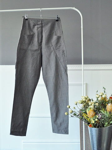 Grey Boyfriend Style Womens Trousers by Marithé et François Girbaud | On Slowness