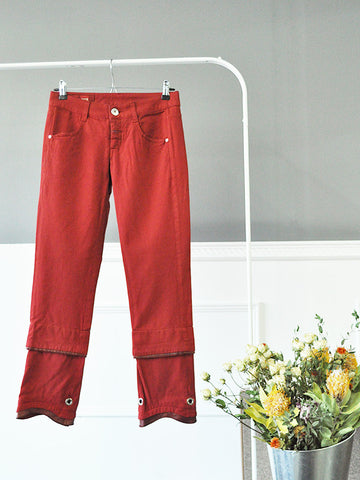 Bull Stretch Red Womens Trousers by Marithé et François Girbaud | On Slowness