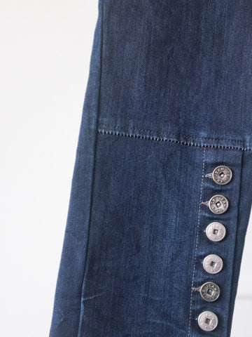 Dark Jeans with Buttons by Marithé et François Girbaud | On Slowness