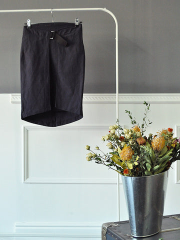 Dark Blue Layered Skirt by Marithé et François Girbaud | On Slowness