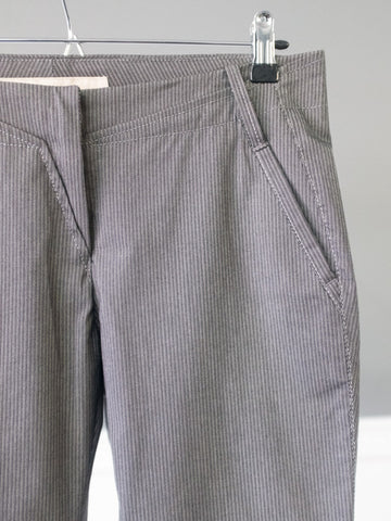 Flywinger Grey Womens Trousers with Stripes by Marithé et François Girbaud | On Slowness
