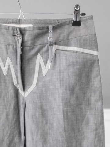 Grey Boyfriend Style Trapeze Trousers by Marithé et François Girbaud | On Slowness