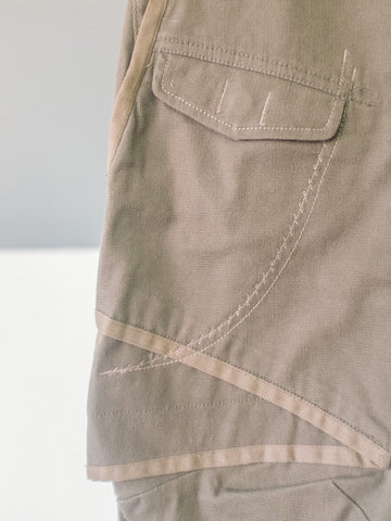 Khaki Trousers with Oversized Pockets by Marithé et François Girbaud | On Slowness
