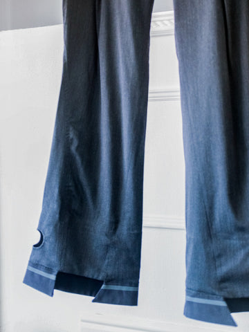 Blue Womens Trapeze Jeans by Marithé et François Girbaud | On Slowness