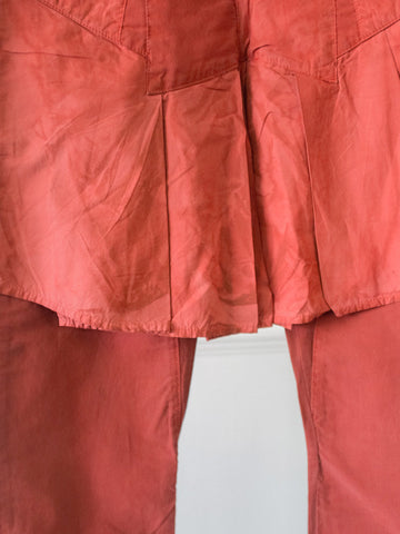 Red Skirty Womens Trousers by Marithé et François Girbaud | On Slowness