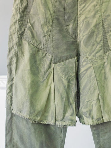 Green Skirty Womens Trousers by Marithé et François Girbaud | On Slowness