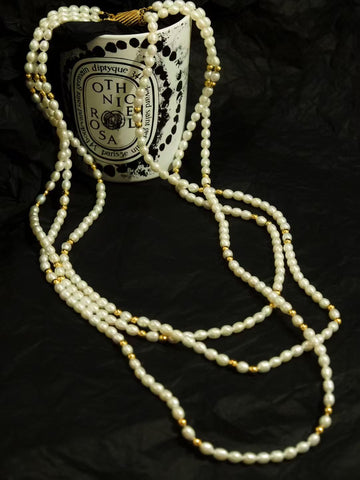 3-strand genuine pearls necklace (Vintage)