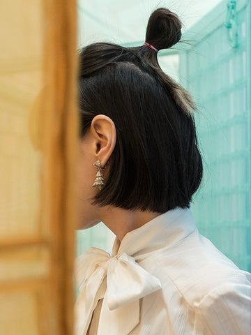 Ruffles vintage clip-on earrings | Rabbit the Archivist | On Slowness jewellery