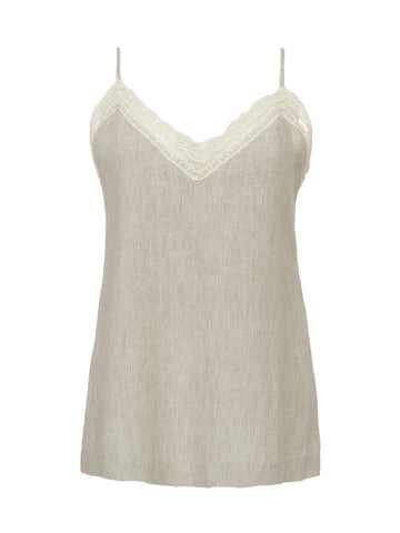 Gold Hawk linen cami top