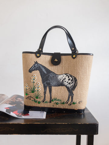Stallion vintage womens handbag | Rabbit the Archivist | On Slowness accessories