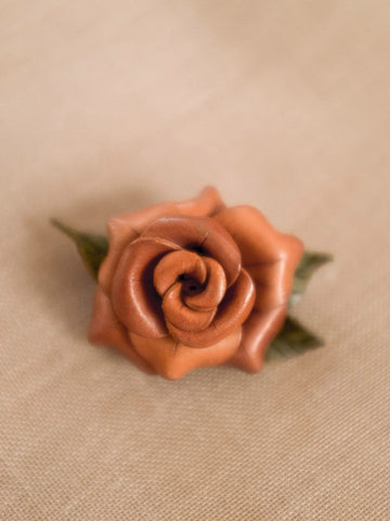 Blooming Rose vintage brooch womens jewellery | On Slowness