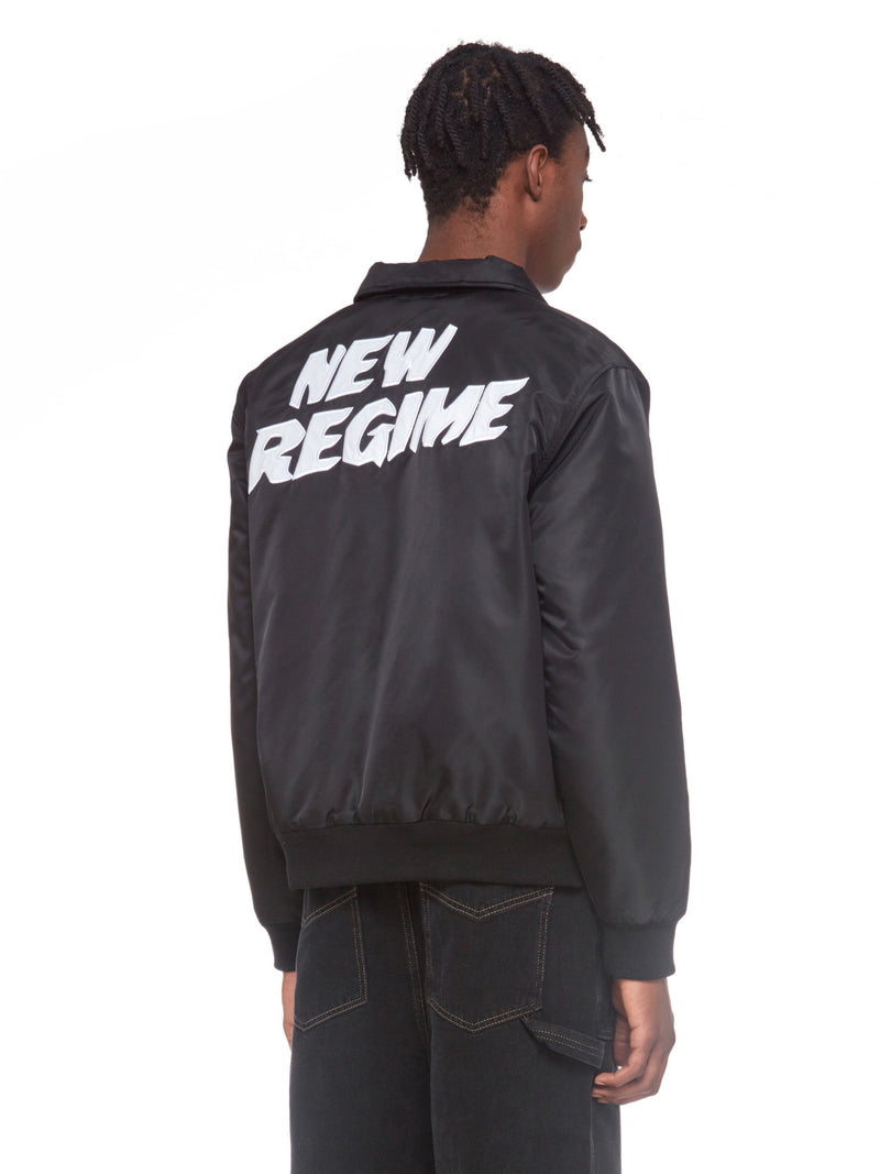 Signature Logo Bomber Jacket (Black)