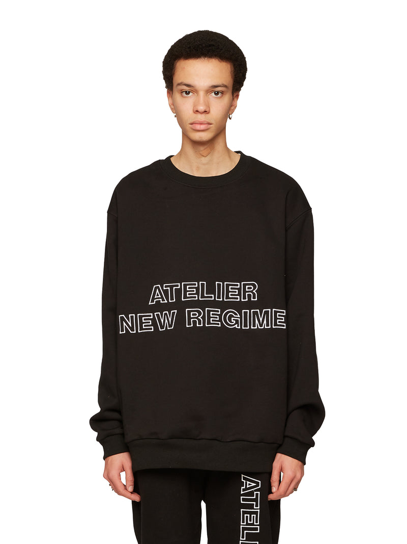 Logo Fleece Crewneck Sweatshirt (Black)