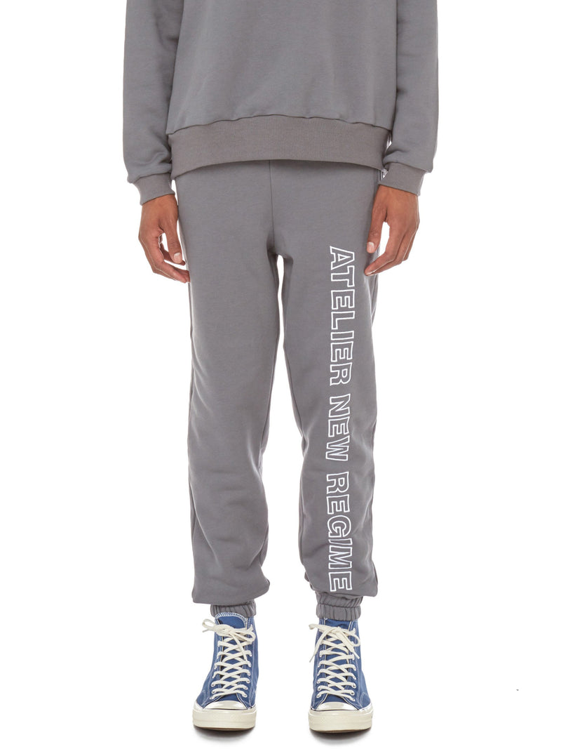Logo Fleece Sweatpants (Grey)