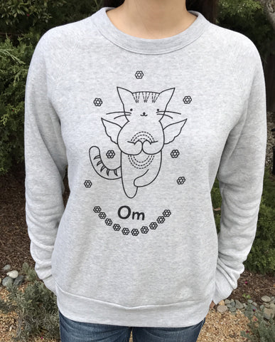 'Om' cat angel unisex sweatshirt