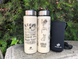"""Vegan is"" glass tumbler with carrying bag"