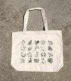 All Animal Lover canvas zippered tote bag