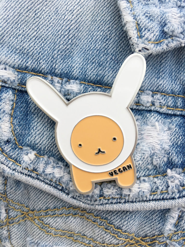 Choose Vegan Catbunny Lapel Pin