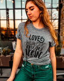 Love Made Me Go Vegan unisex tee