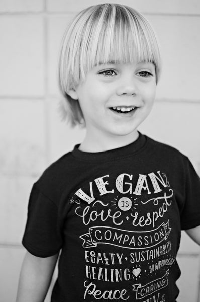 'Vegan is' Toddler ECO short sleeve t-shirt