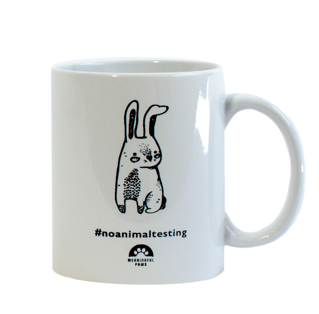 No Animal Testing ceramic mug