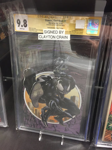 Venom: First Host #1 CGC 9.8 Signed By Clayton Crain