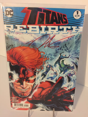 Titans Rebirth #1 ~ Signed By Norm Rapmund