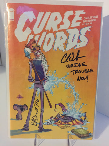 Curse Words #1 Skottie Young variant ~ 2x Signed