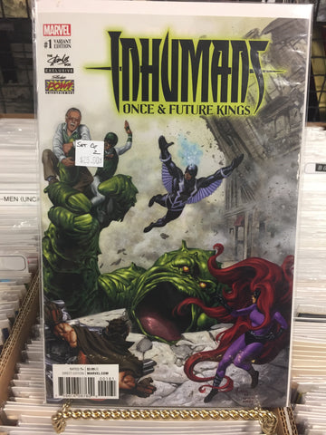 Inhumans Once & Future Kings #1 Stan Lee Box Variant Set