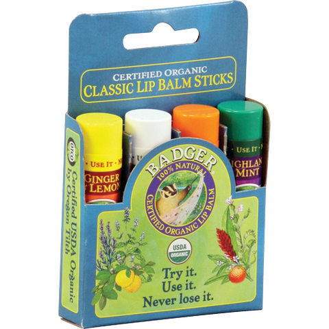 Classic Lip Balm 4-Pack - Blue Box