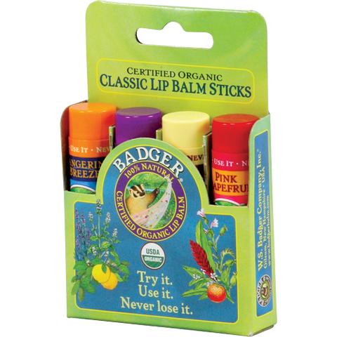 Classic Lip Balm 4-Pack - Green Box