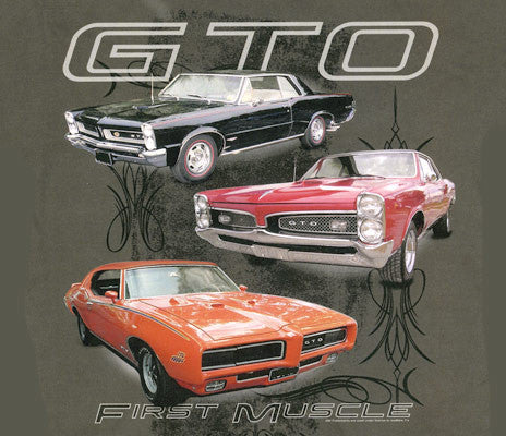3 GTO's First Muscle - Car Shirts Guy