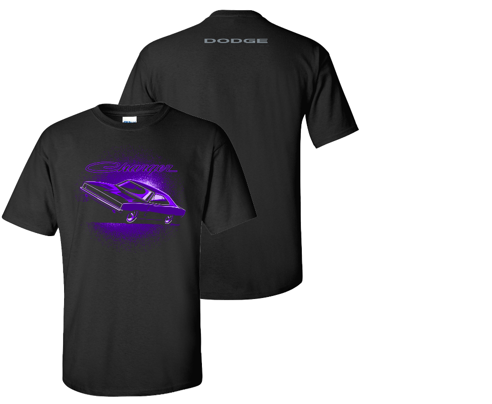 Dodge Charger Plum Crazy - Car Shirts Guy