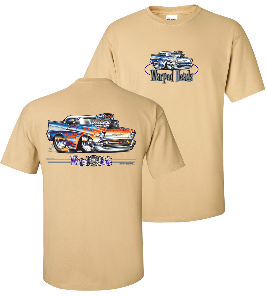 '57 Chevy Warped Heads - Car Shirts Guy