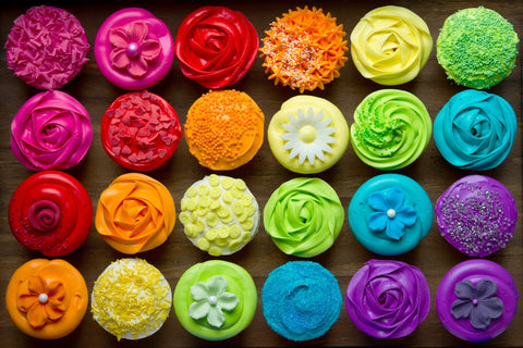 Cupcakes With Edible Toppers - Cupcakes - Tasty Habits Bakery