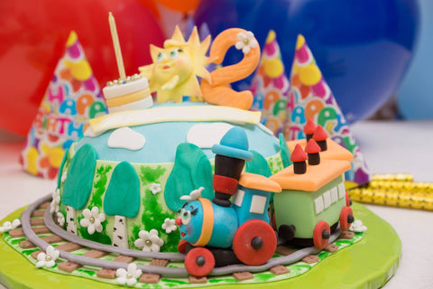 Cute Train Cake - Cakes - Tasty Habits Bakery