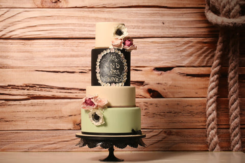 Multi - Tier Frame and Classic Decorations Cake - Cakes - Tasty Habits Bakery