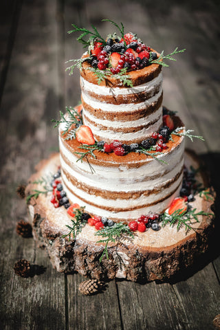 Multi - Tier Naked Decorated Cake - Cakes - Tasty Habits Bakery
