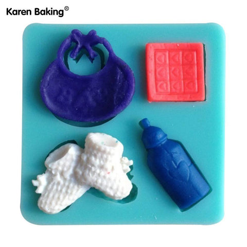 bottle / shoes / baby shaped chocolate silicone mold - kitchenWare - Tasty Habits