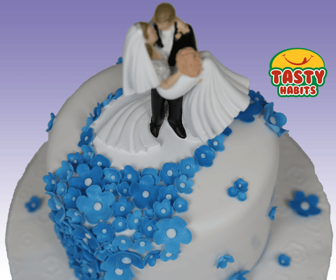 Blue Flowers Cake - Tasty Habits  - 1