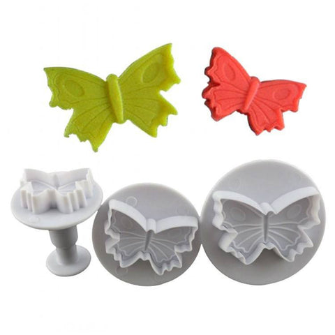 3 pcs strong food grade Plunger Mold Cake Decorating Butterfly Cutter - kitchenWare - Tasty Habits