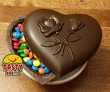 Edible Sealed Chocolate Heart Box * Fine Chocolate From Tasty Habits * - Chocolate Heart - Tasty Habits Bakery