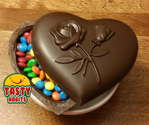 Edible Sealed Chocolate Heart Box * Fine Chocolate From Tasty Habits * - Tasty Habits