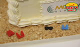Vacation or Retirement Image Cake Rectangular - Cakes - Tasty Habits Bakery