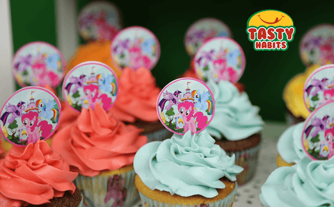 Cupcakes With Non Edible Toppers - Cupcakes - Tasty Habits Bakery