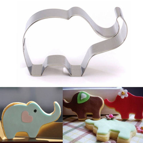Elephant Animal Stainless Steel Cookie Cutter Cake Baking Biscuit Pastry Mould Cake Tools - kitchenWare - Tasty Habits