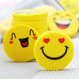 4pcs Round Emoji Erasers - Promo Gift Items - Tasty Habits