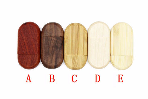 USB Wooden Flash Drive 4 GB - Promo Gift Items - Tasty Habits